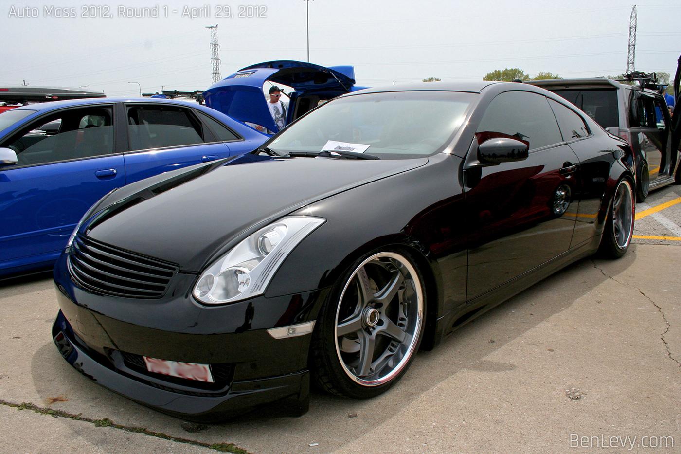 infiniti g35 coupe black. black infiniti g35 coupe a
