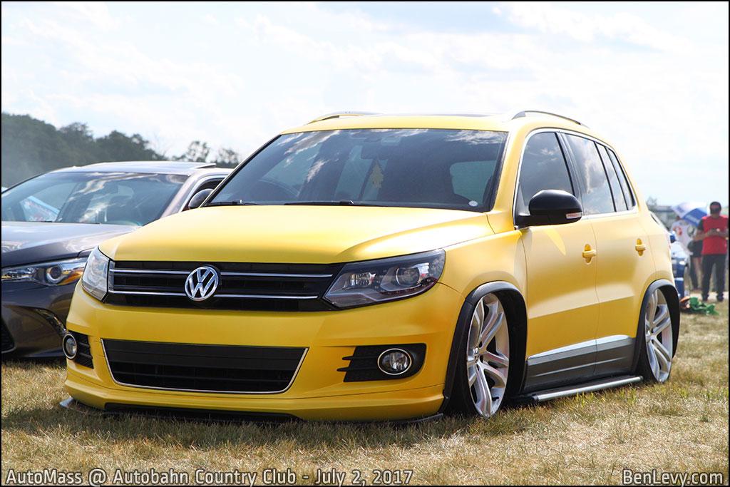 Yellow Volkswagen Tiguan