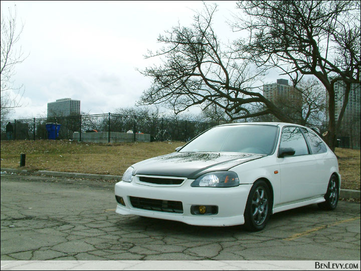 Honda Civic Hatchback Ek. White EK Civic Hatchback