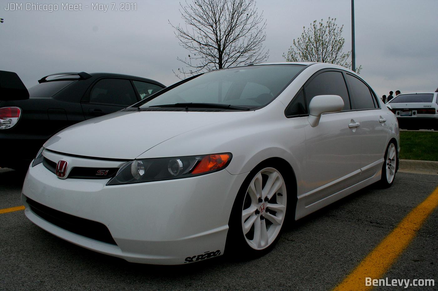 White honda civic si for Honda civic si white