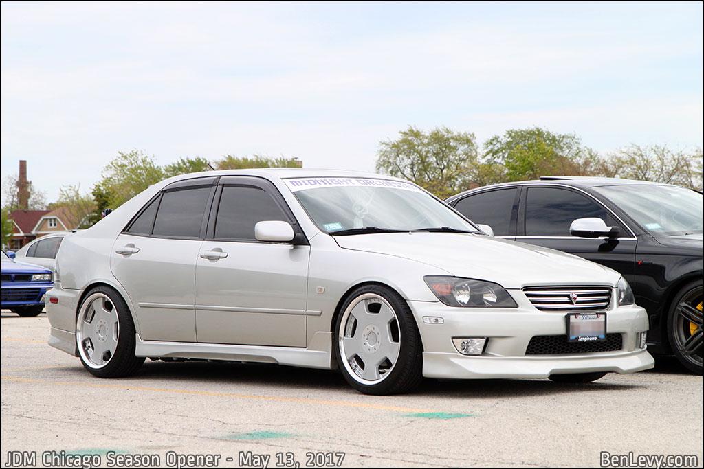 Silver Lexus IS300