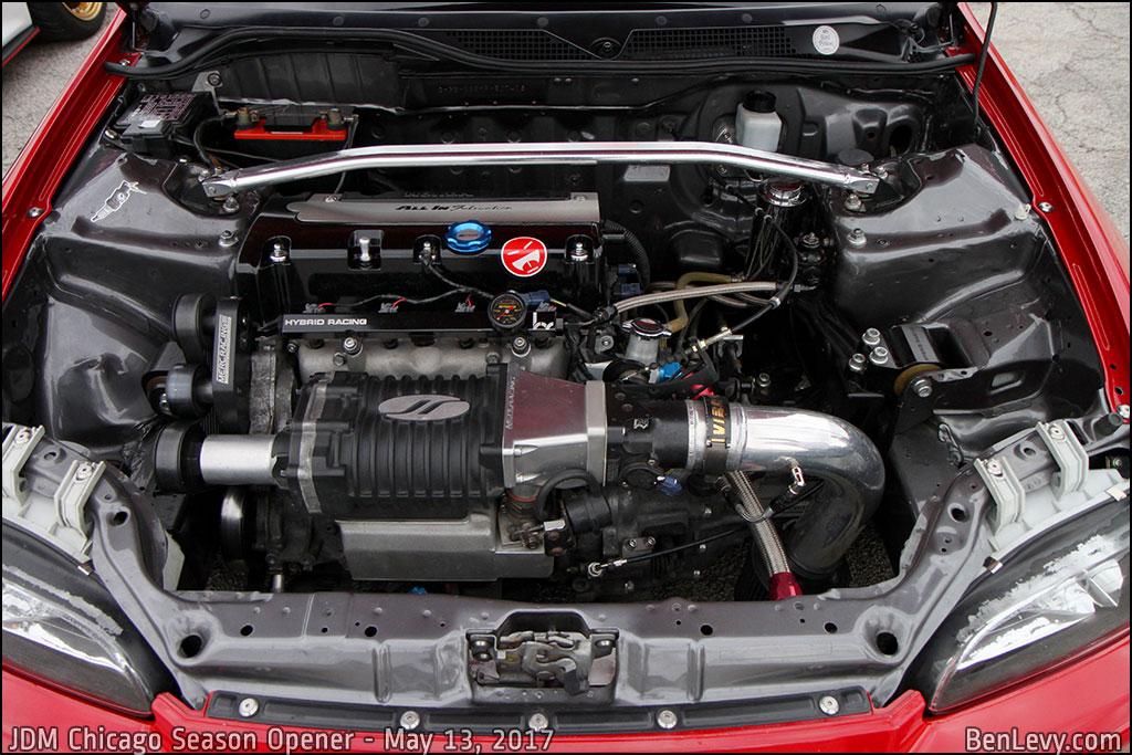 Supercharged K20 engine in Civic Hatchback