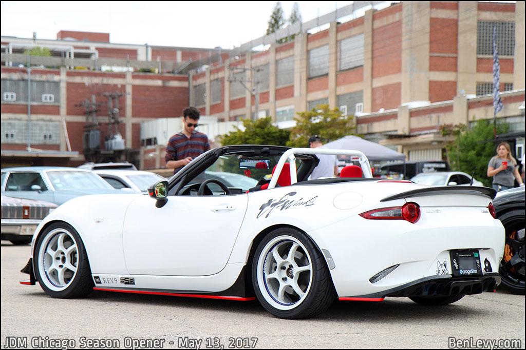 White ND Mazda Miata
