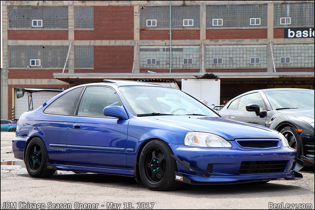 Blue Honda Civic Si coupe