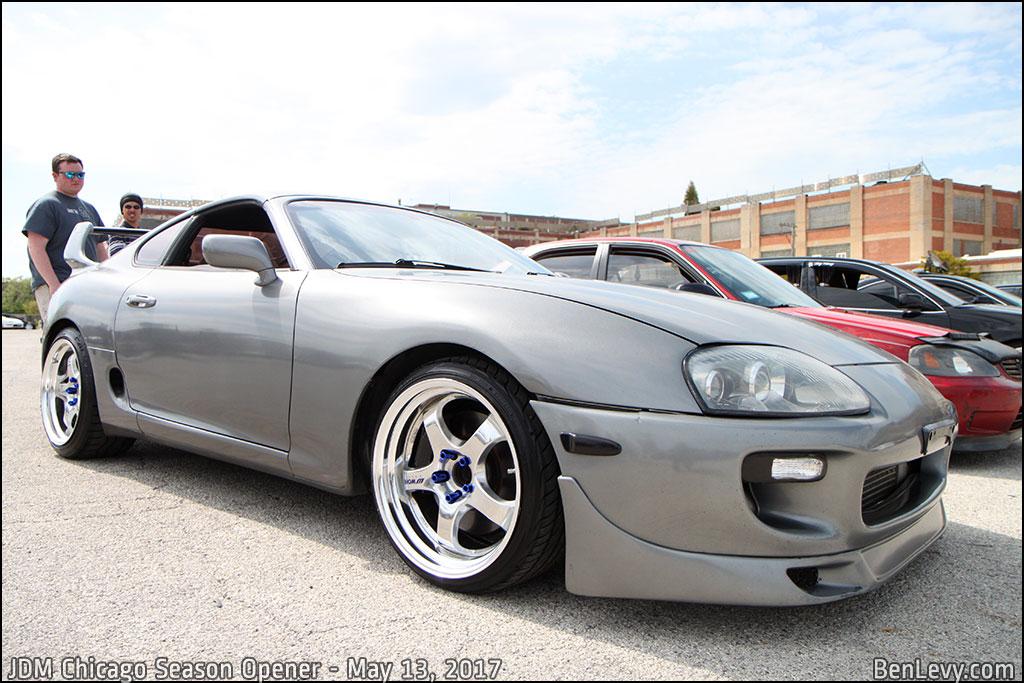 Silver Toyota Supra