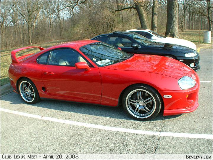 Toyota Supra in Red - BenLevy.com