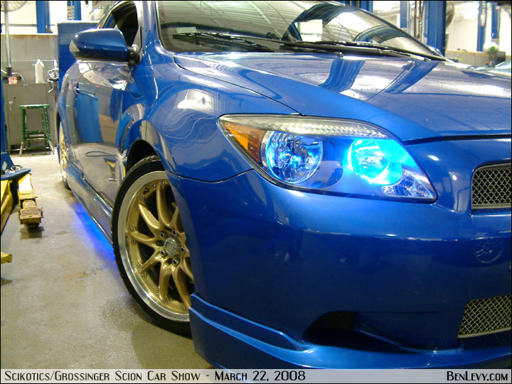 Blue Scion Tc With Gold Wheels Benlevy Com
