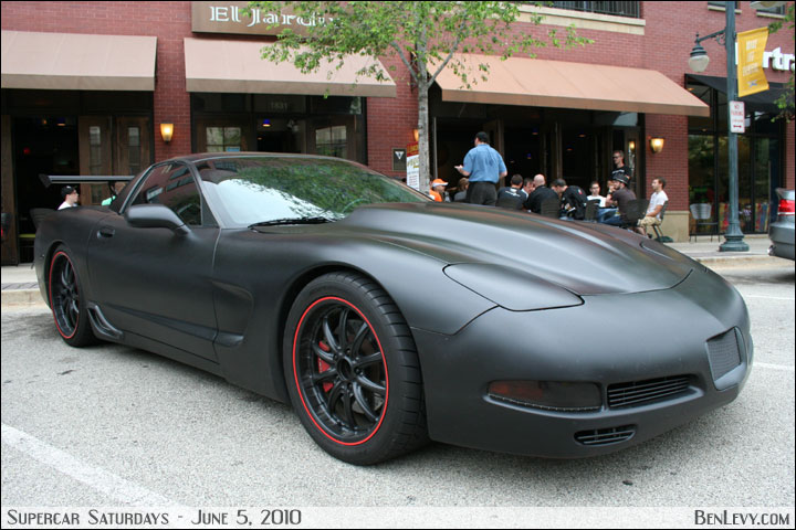 matte black corvette car interior design. Black Bedroom Furniture Sets. Home Design Ideas