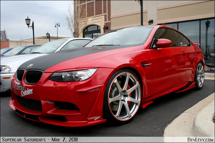 Red E92 Bmw M3 With Bodykit Benlevy Com