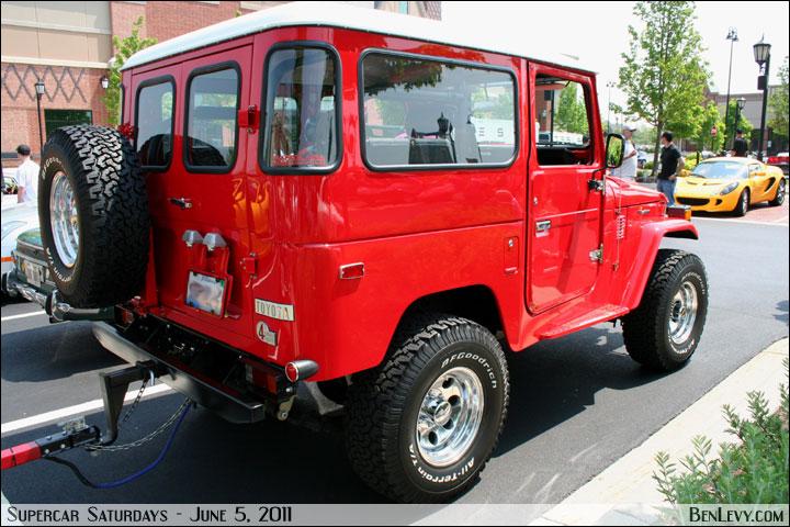Red Toyota Land Cruiser 40 Series Fj40 Benlevy Com