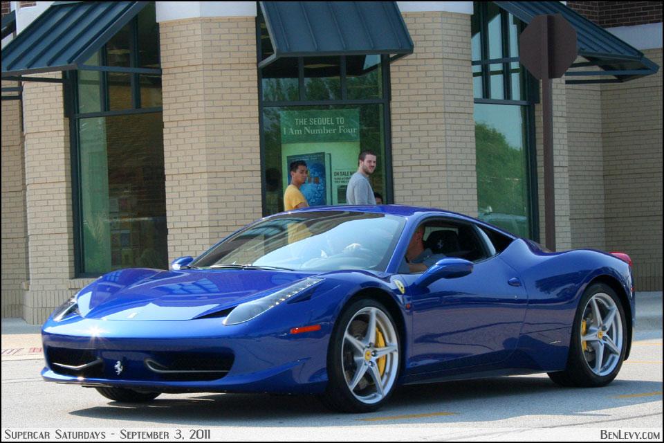 Blue Ferrari 458 Italia Benlevy Com