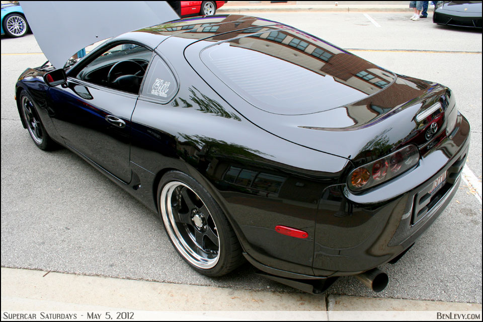 Black Toyota Supra - BenLevy.com