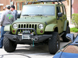 Jeep Wrangler with green bedliner