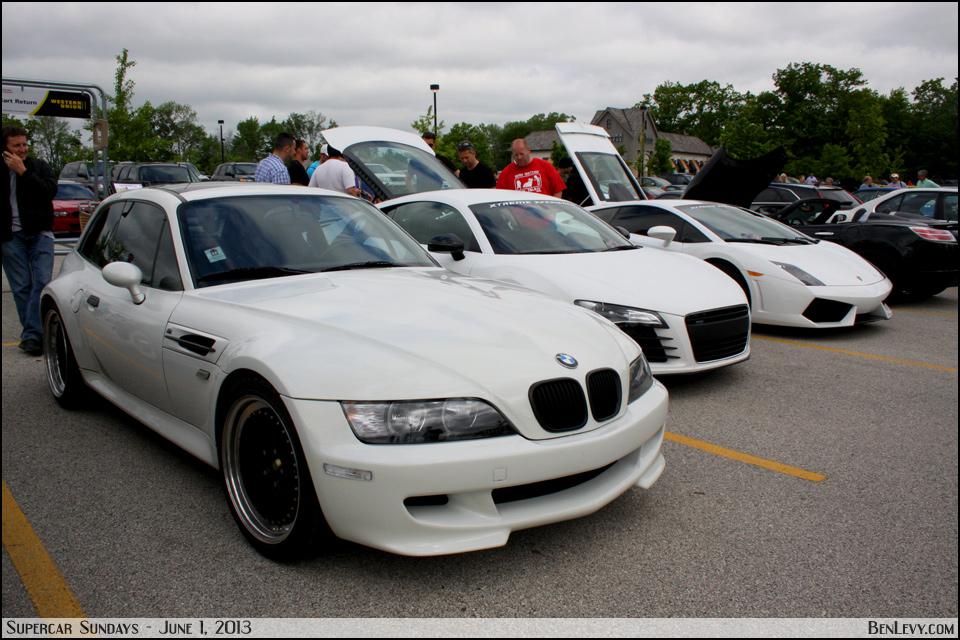 White Sportscars at Supercar Saturday