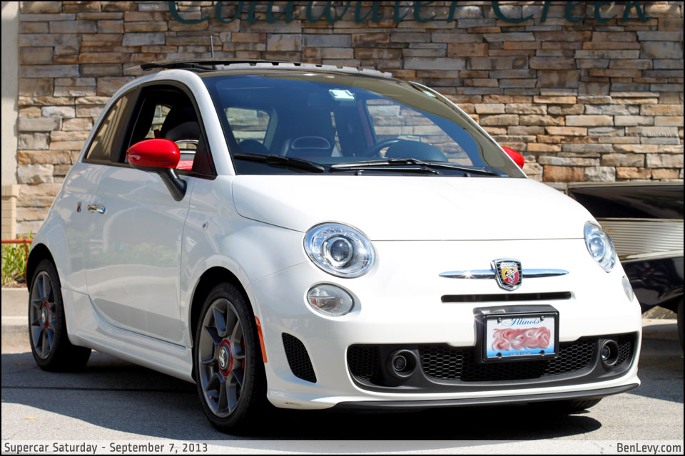 White Fiat 500 Abarth Benlevy Com