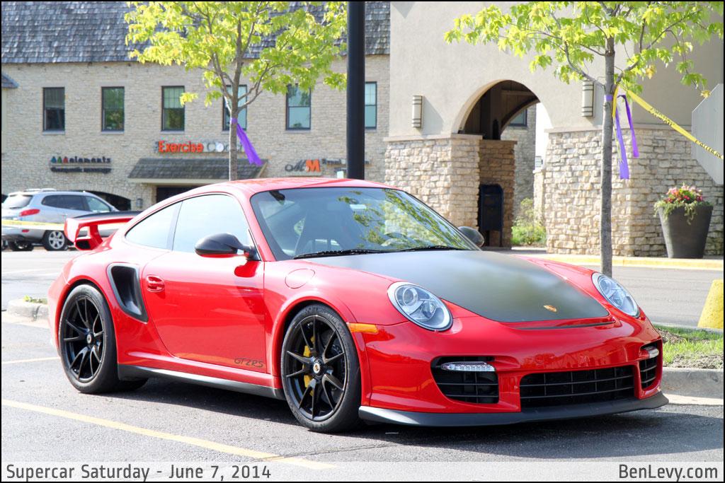 Red Porsche 911 GT2 RS - BenLevy.com