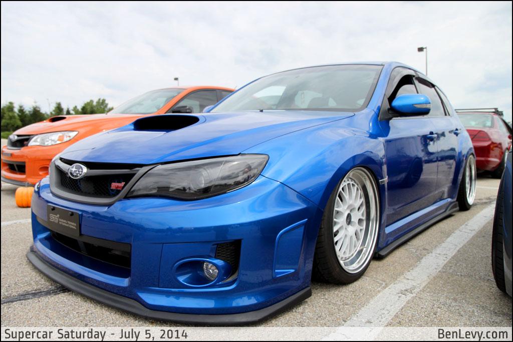 Blue Subaru Wrx Sti Benlevy Com