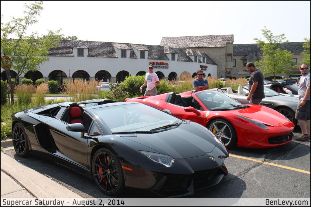 Lamborghini Aventador and Ferrari 458 Spider