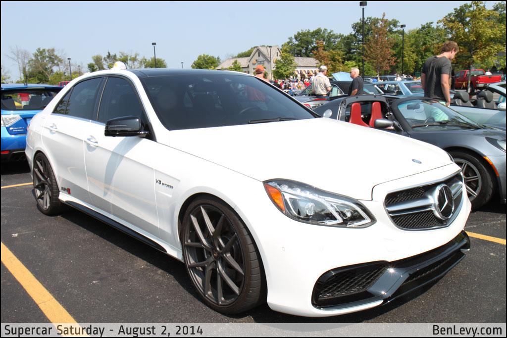 White Mercedes-Benz E63 AMG