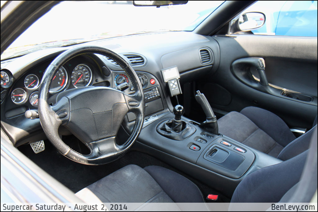 Mazda RX-7 interior - BenLevy.com