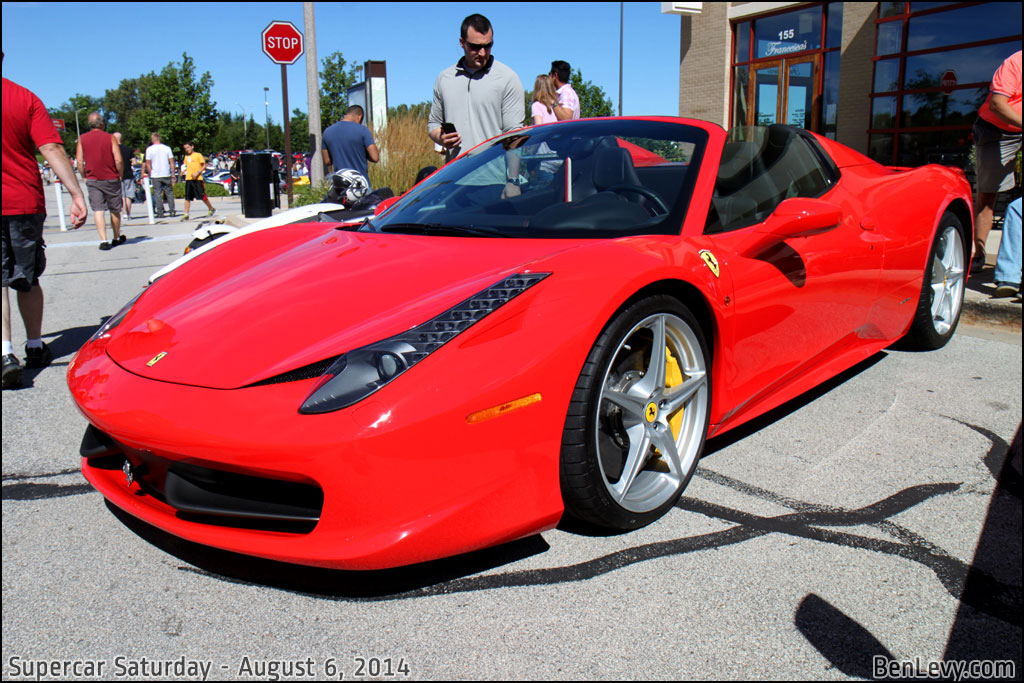 Red Ferrari 458 Spider - BenLevy.com