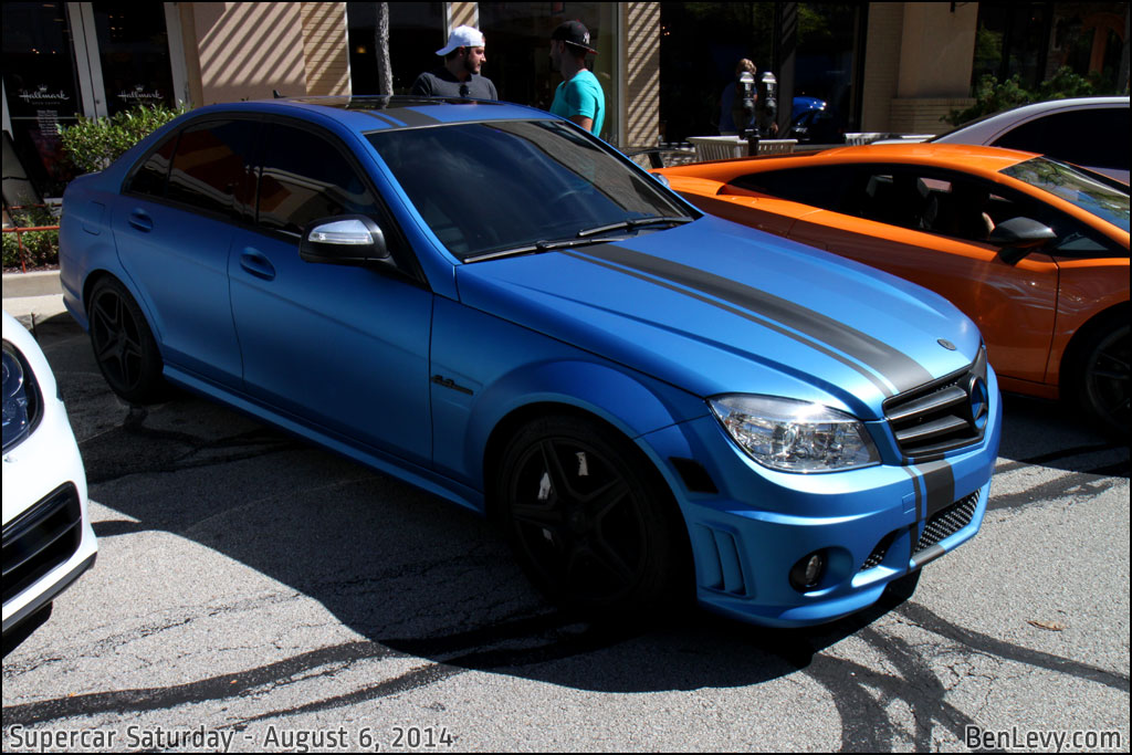 Wrapped Mercedes-Benz C63 AMG