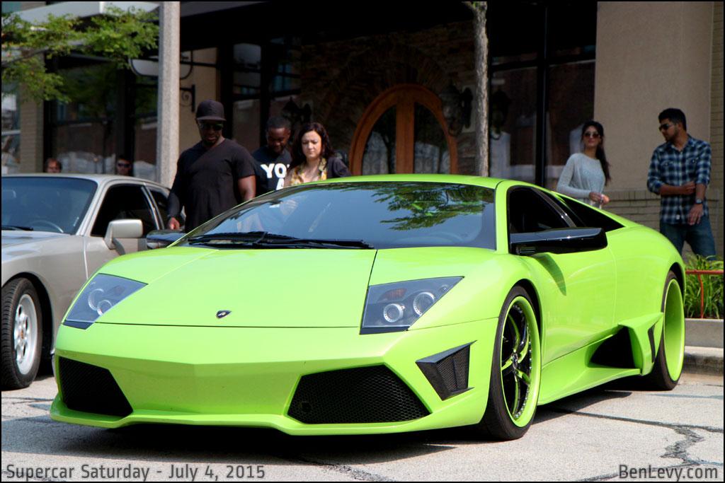 Lime Green Lamborghini Murcielago - BenLevy.com