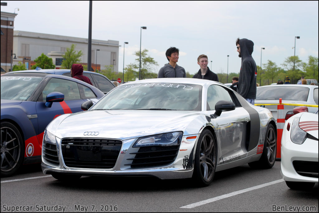 Audi R8 With Reflective Wrap Benlevy Com