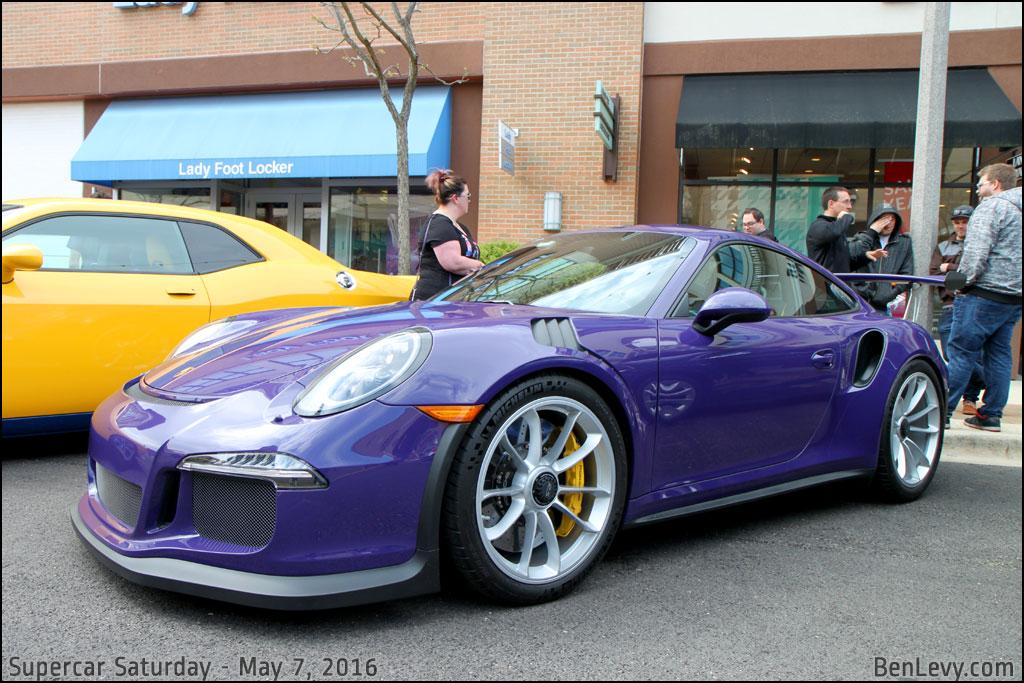 Purple Porsche 911 GT3 RS - BenLevy.com