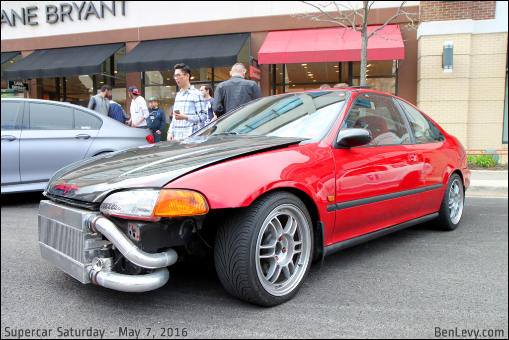 Honda Civic Coupe With Exposed Front Mount Intercooler