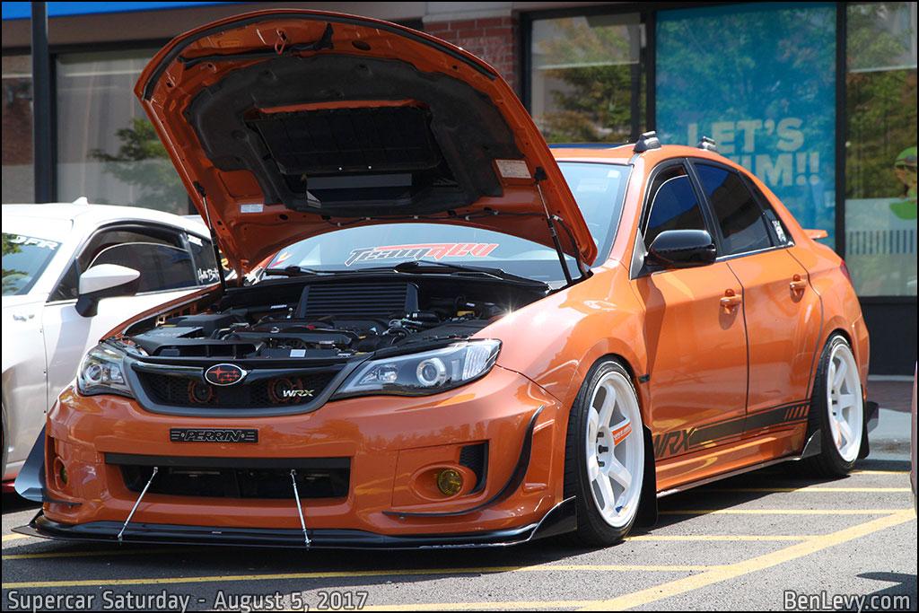 Orange Subaru WRX