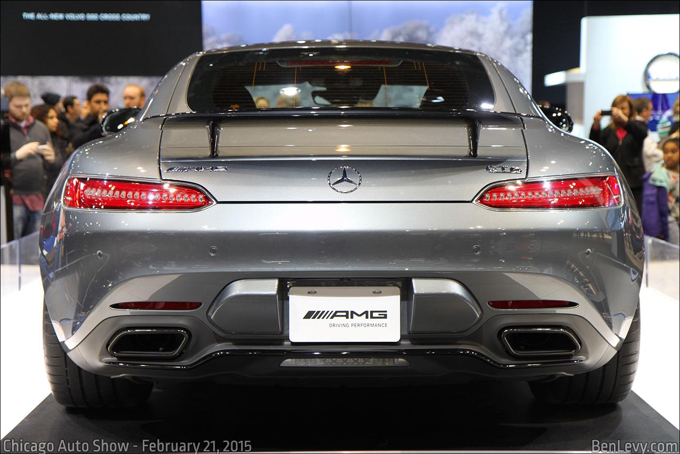 Rear shot of the Mercedes-Benz GTS
