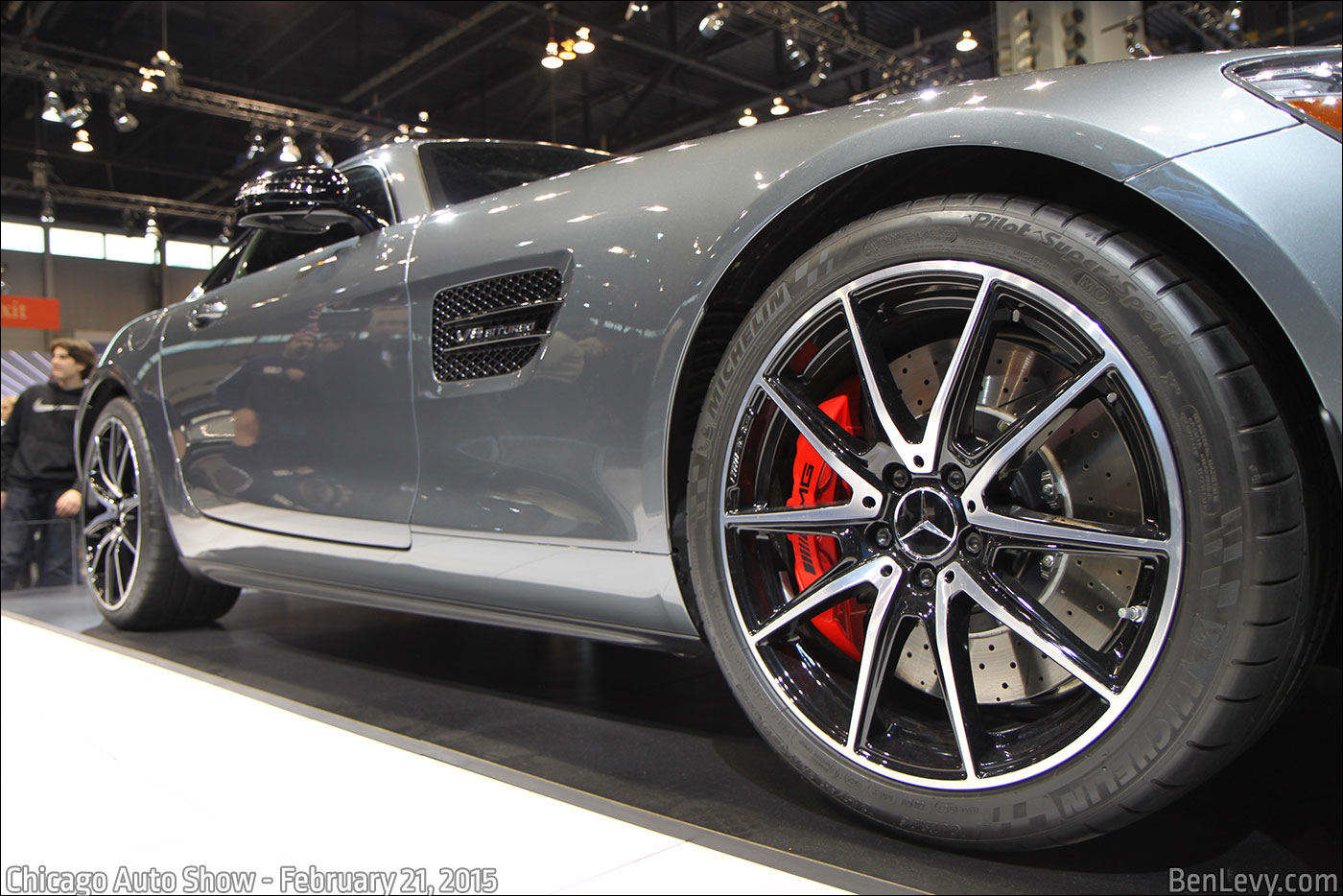 Fender vent and Wheel of Mercedes-AMG GT S