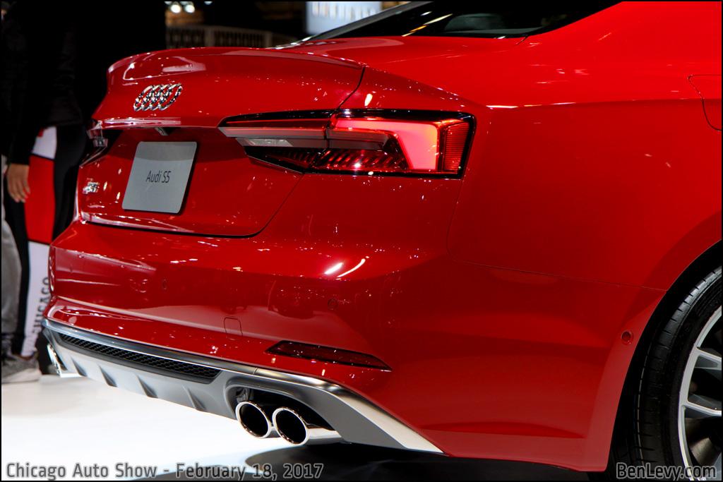 Rear of 2017 Audi S5