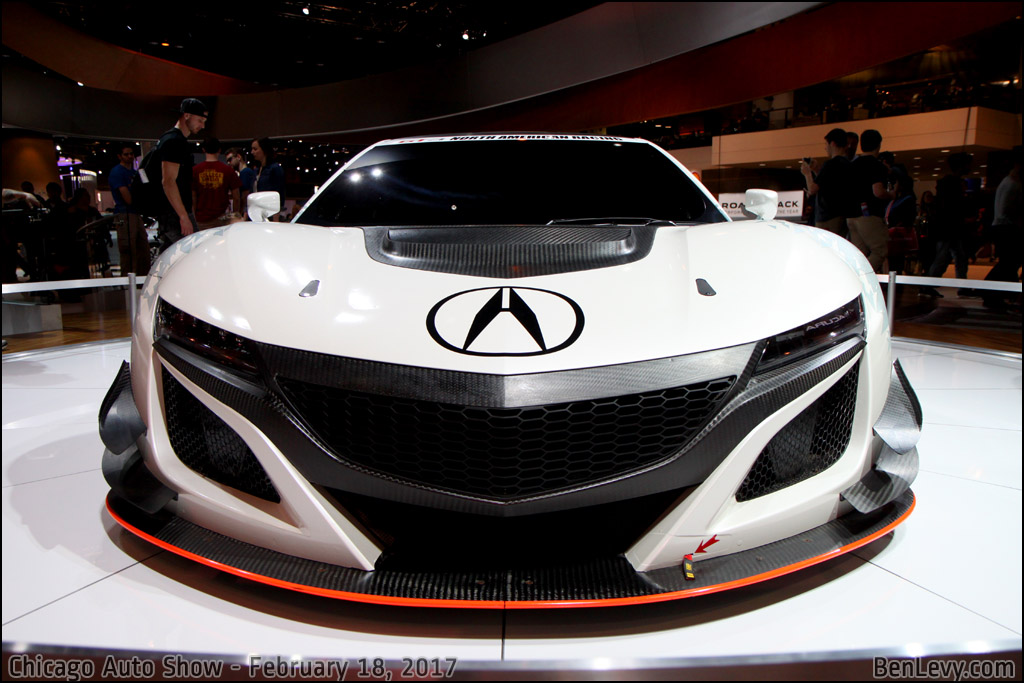 Front of the NSX GT3 Race Car