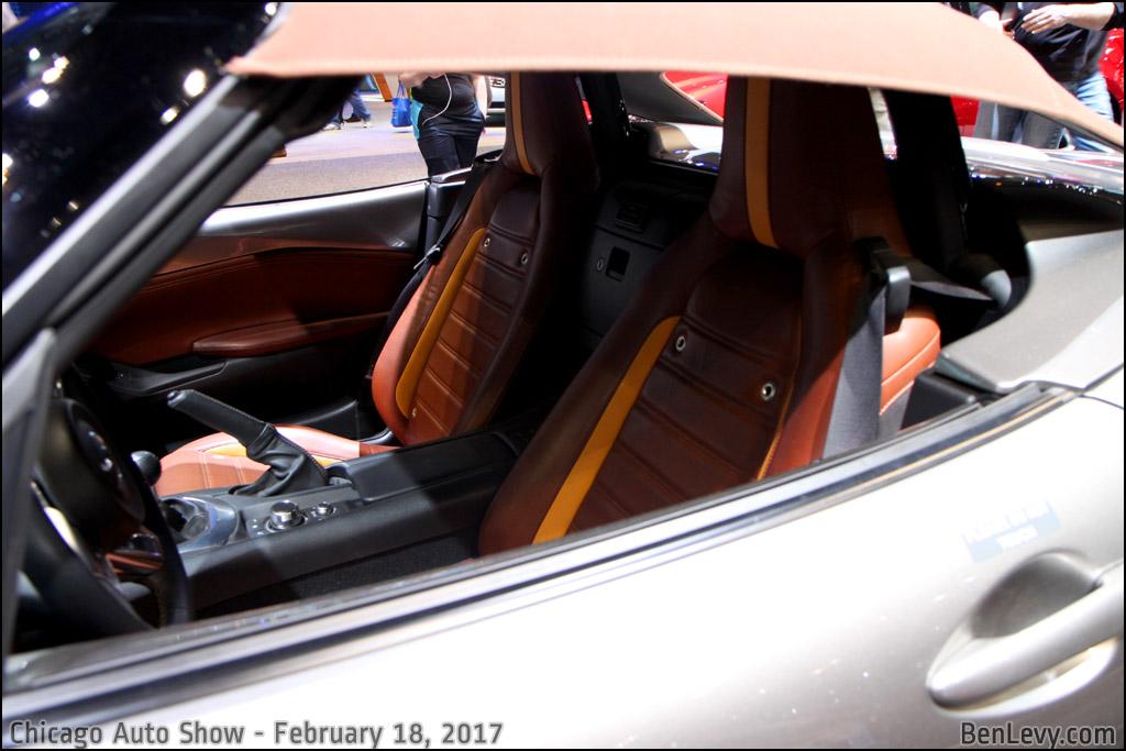 Seats of the Mazda MX-5 Spyder