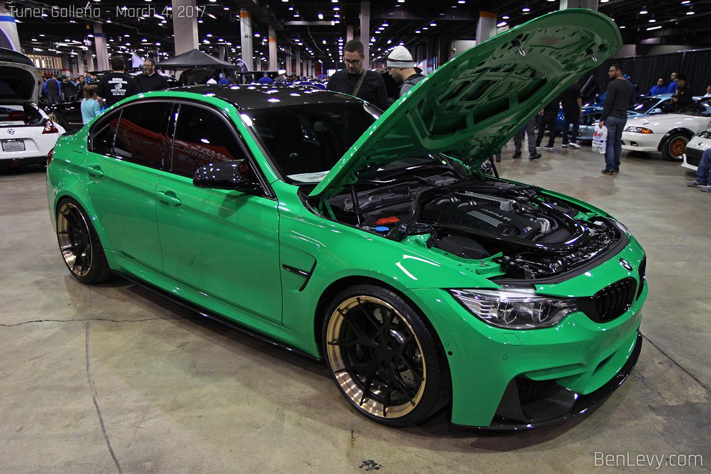 F80 BMW M3 in Signal Green