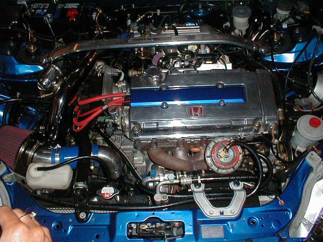 Turbo Civic Si Engine Bay