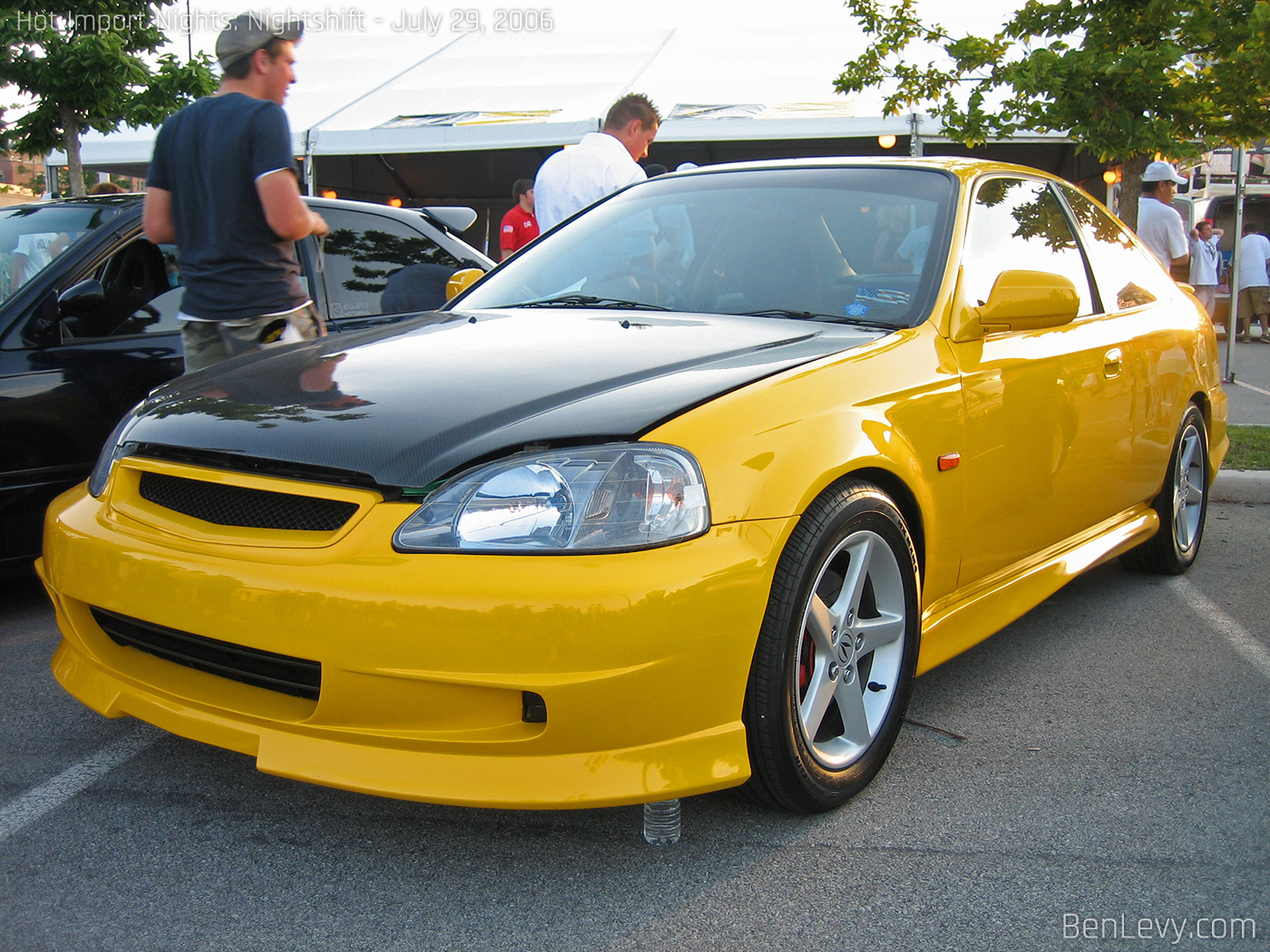 Yellow Ek Honda Civic Coupe Benlevy Com
