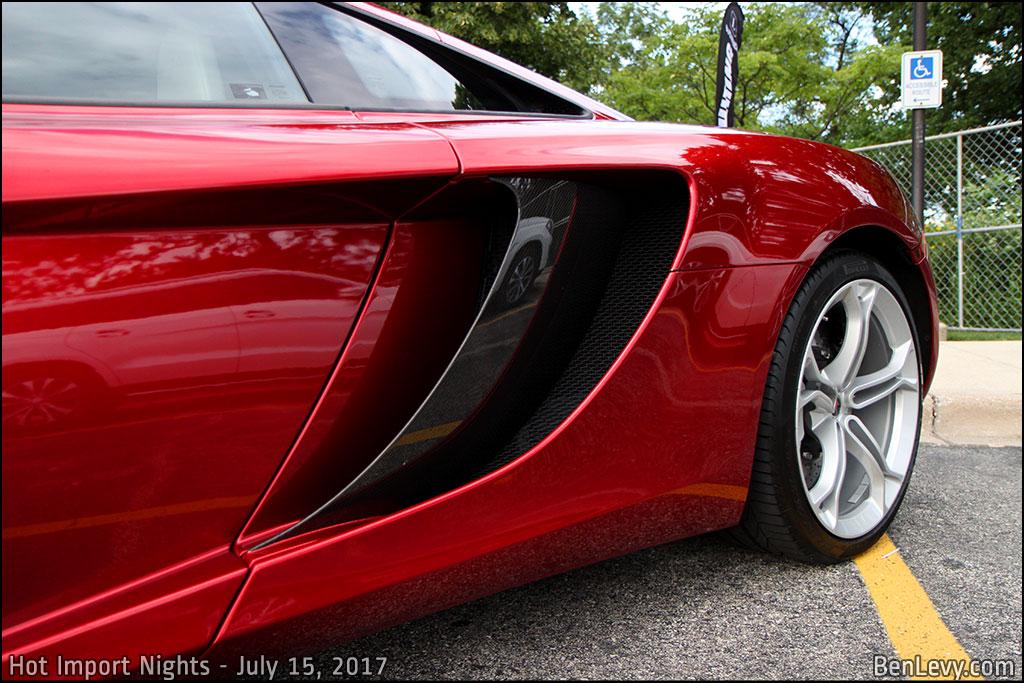 McLaren 12C Side Intake Blades