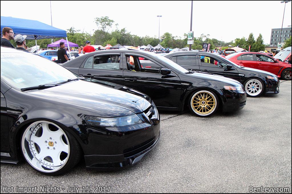Acura TLs from Hot Import Night