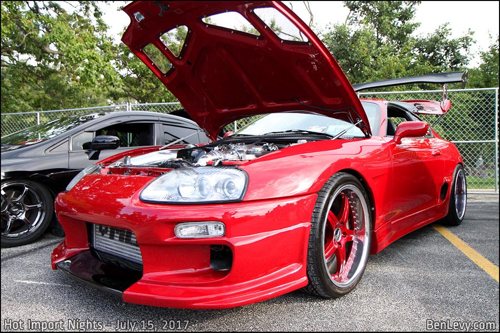 Red Toyota Supra