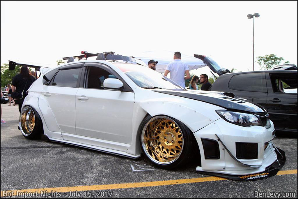 White Subaru WRX