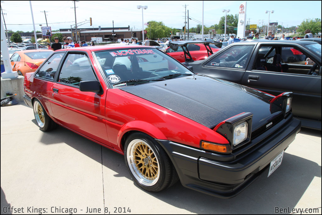 Red Corolla coupe