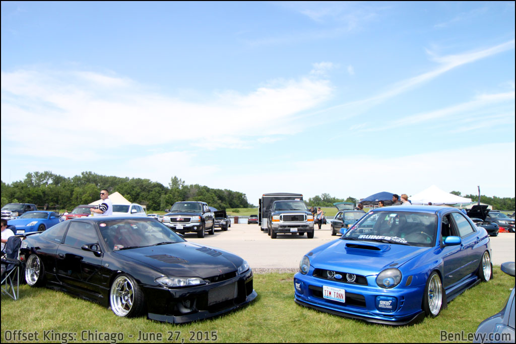 Nissan 240SX and Subaru WRX at Offset Kings