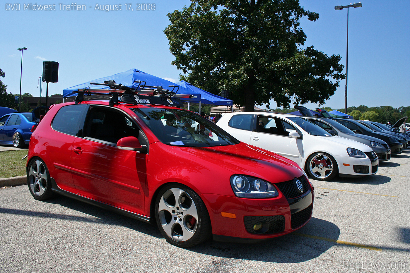 VW GTI With Roof Rack