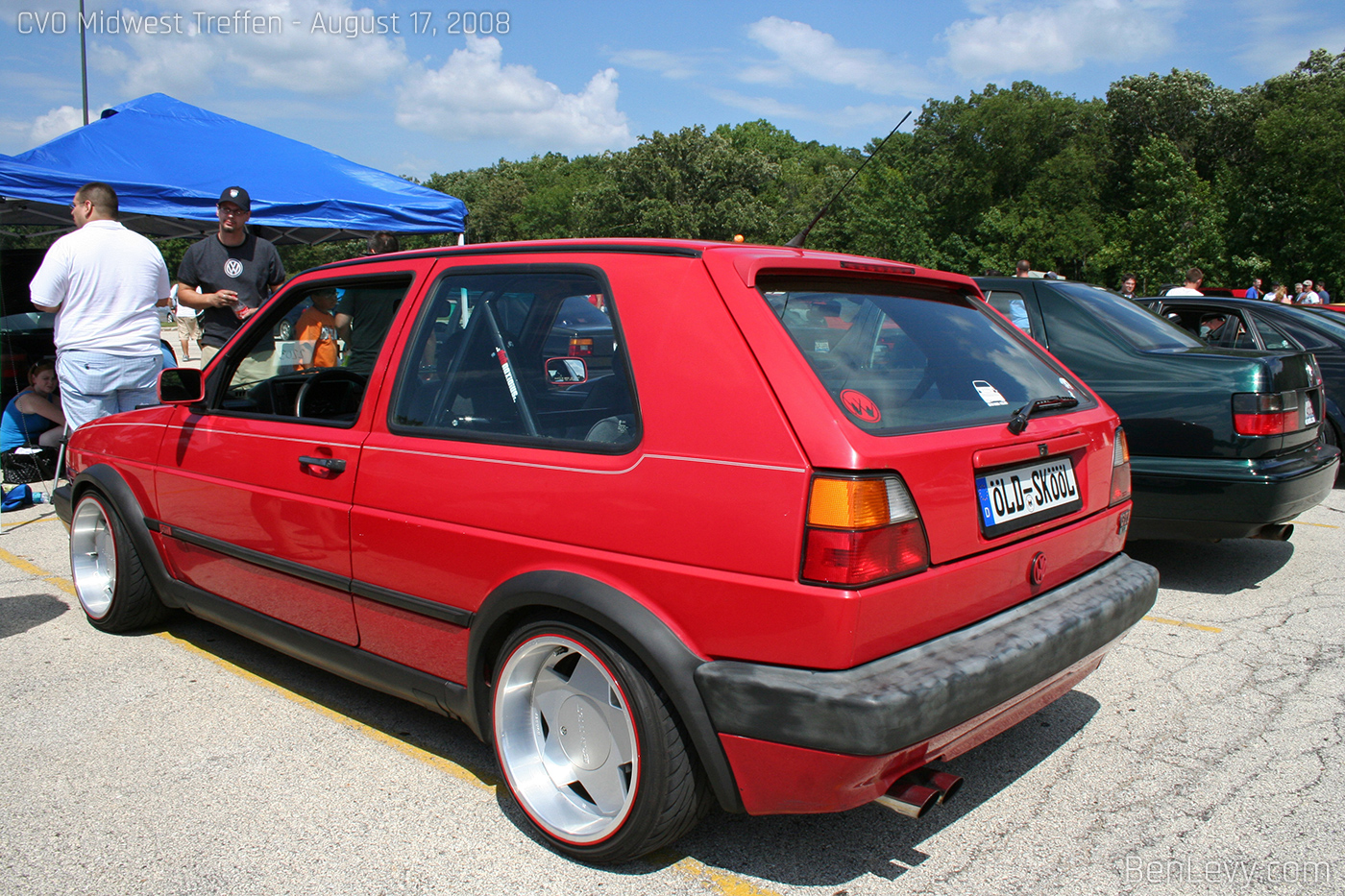 mk2 Volkswagen GTI with Borbet Wheels - BenLevy.com